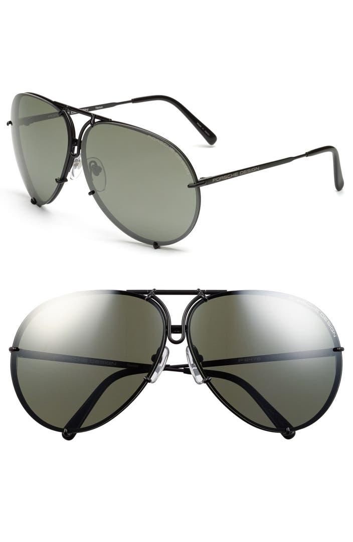 porsche design 39 p8478 39 69mm aviator sunglasses nordstrom. Black Bedroom Furniture Sets. Home Design Ideas