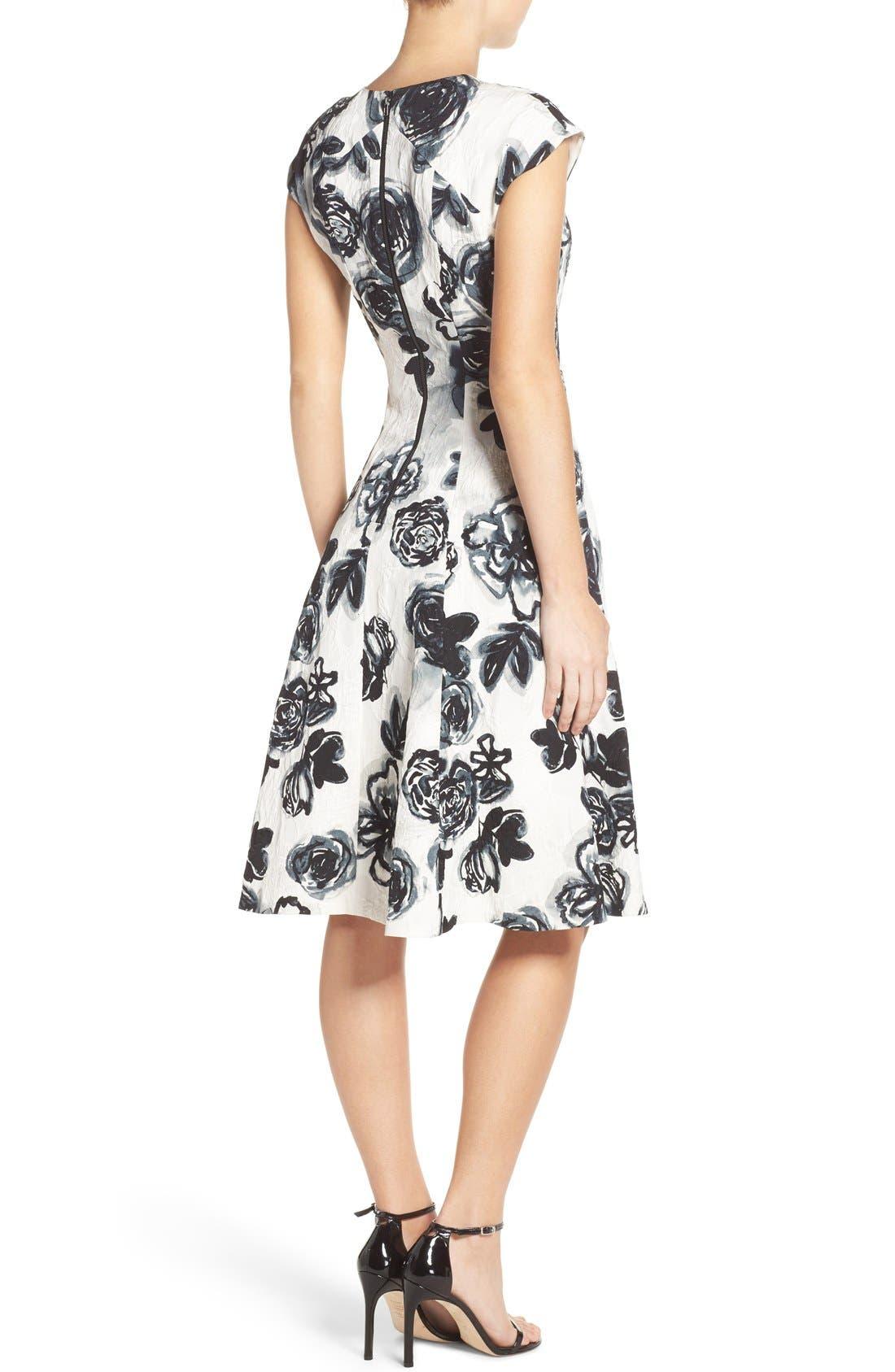 Alternate Image 3  - Sachin & Babi Noir 'Desiree' Floral Jacquard Fit & Flare Dress