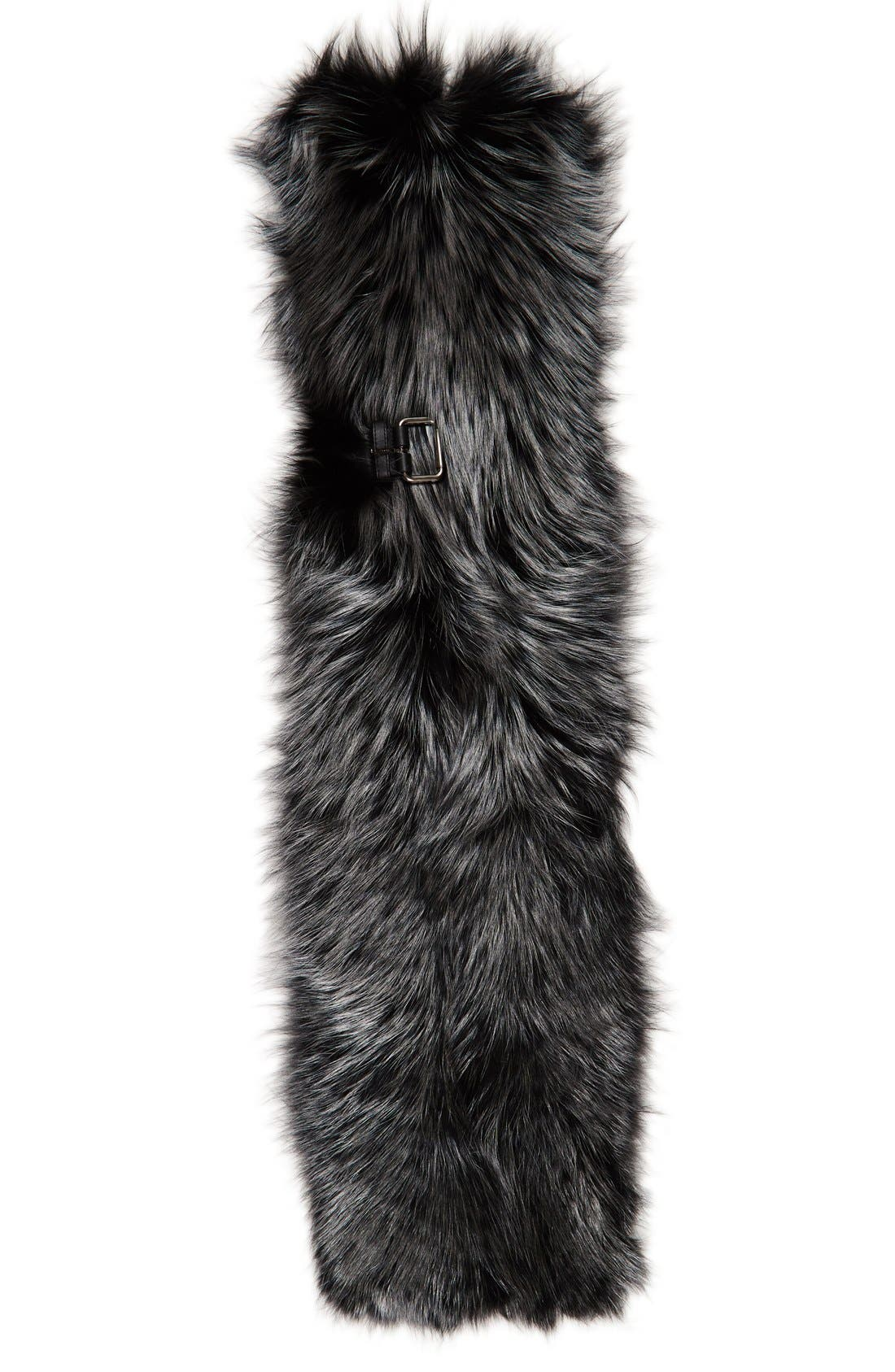 Genuine Fox Fur Wrap,                         Main,                         color, Metallic