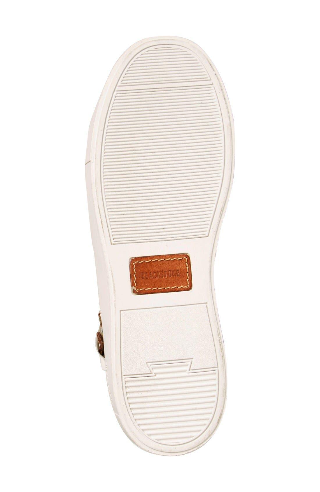 'LL78' Crackled High Top Platform Sneaker,                             Alternate thumbnail 4, color,                             Hazel/White