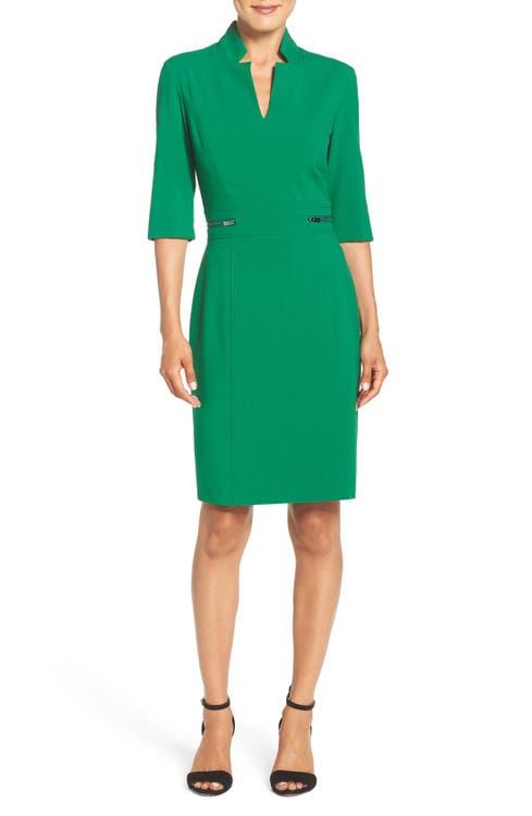 Main Image - TahariBi-Stretch Sheath Dress (Regular & Petite)