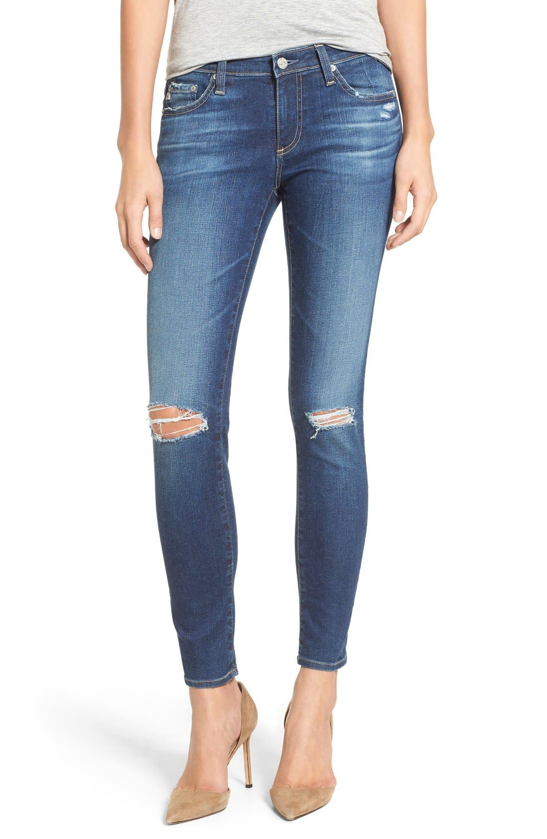 The Legging Ankle Jeans,                         Main,                         color, 10 Year Recreation
