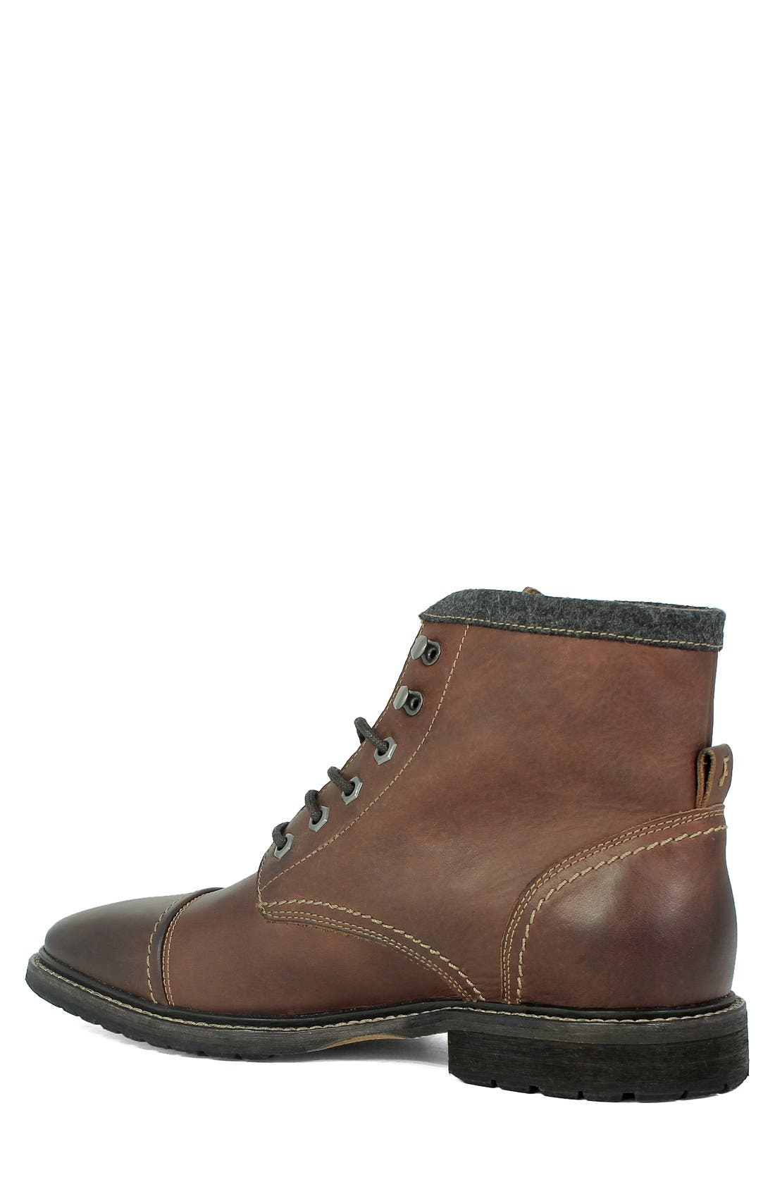 'Indie' Cap Toe Boot,                             Alternate thumbnail 2, color,                             Chestnut Leather
