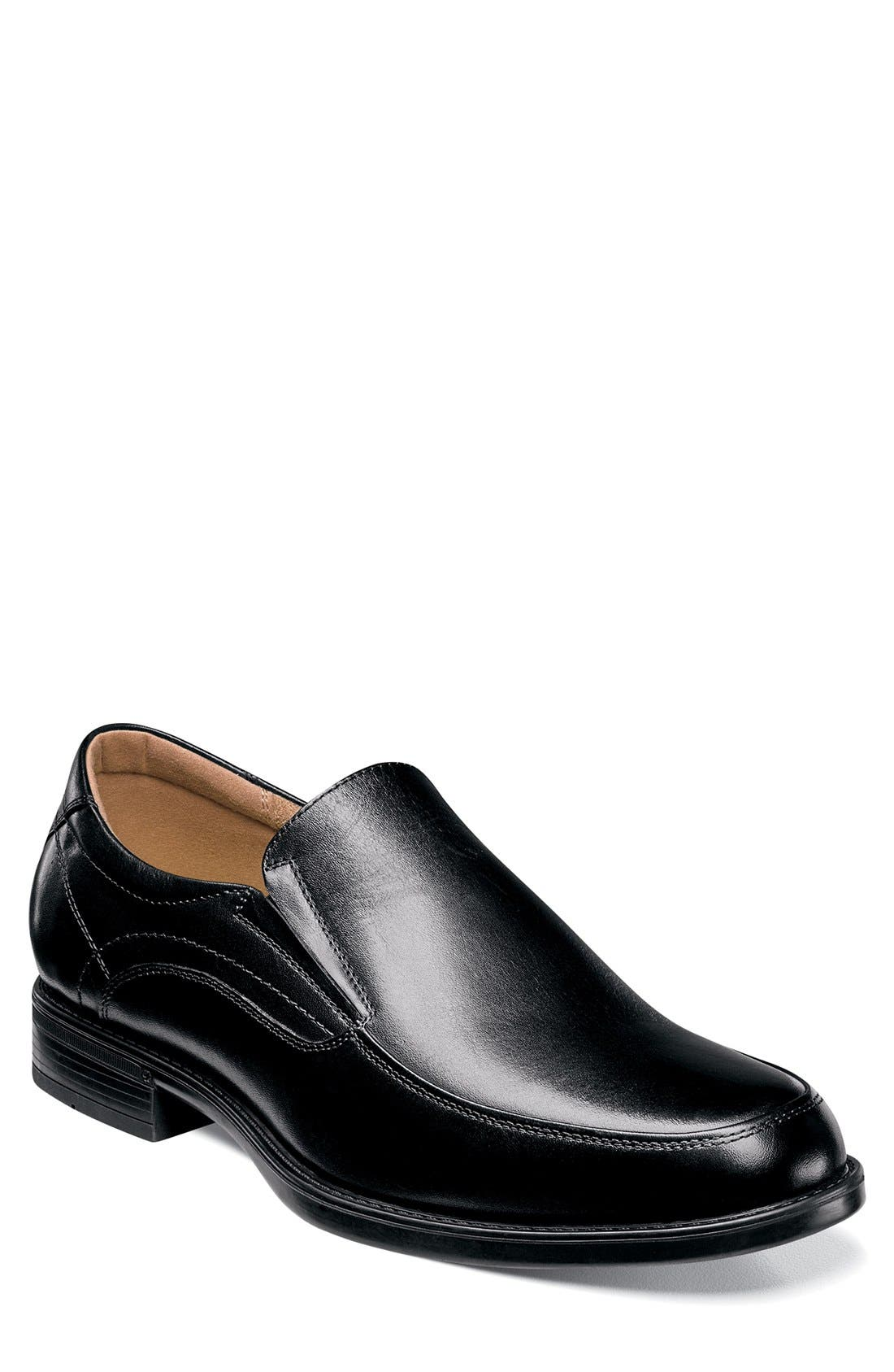 'Midtown' Slip-On,                             Main thumbnail 1, color,                             Black Leather