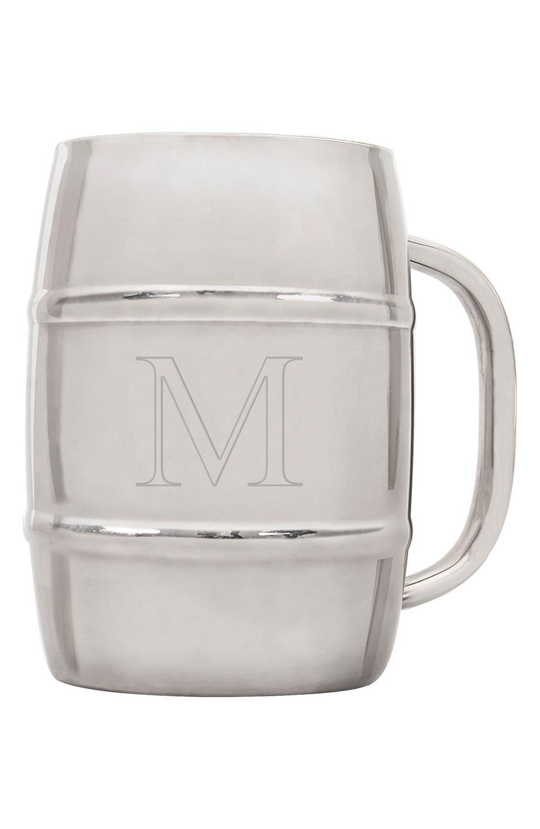 Alternate Image 2  - Cathy's Concepts 'XL Beer Keg' Monogram Mug