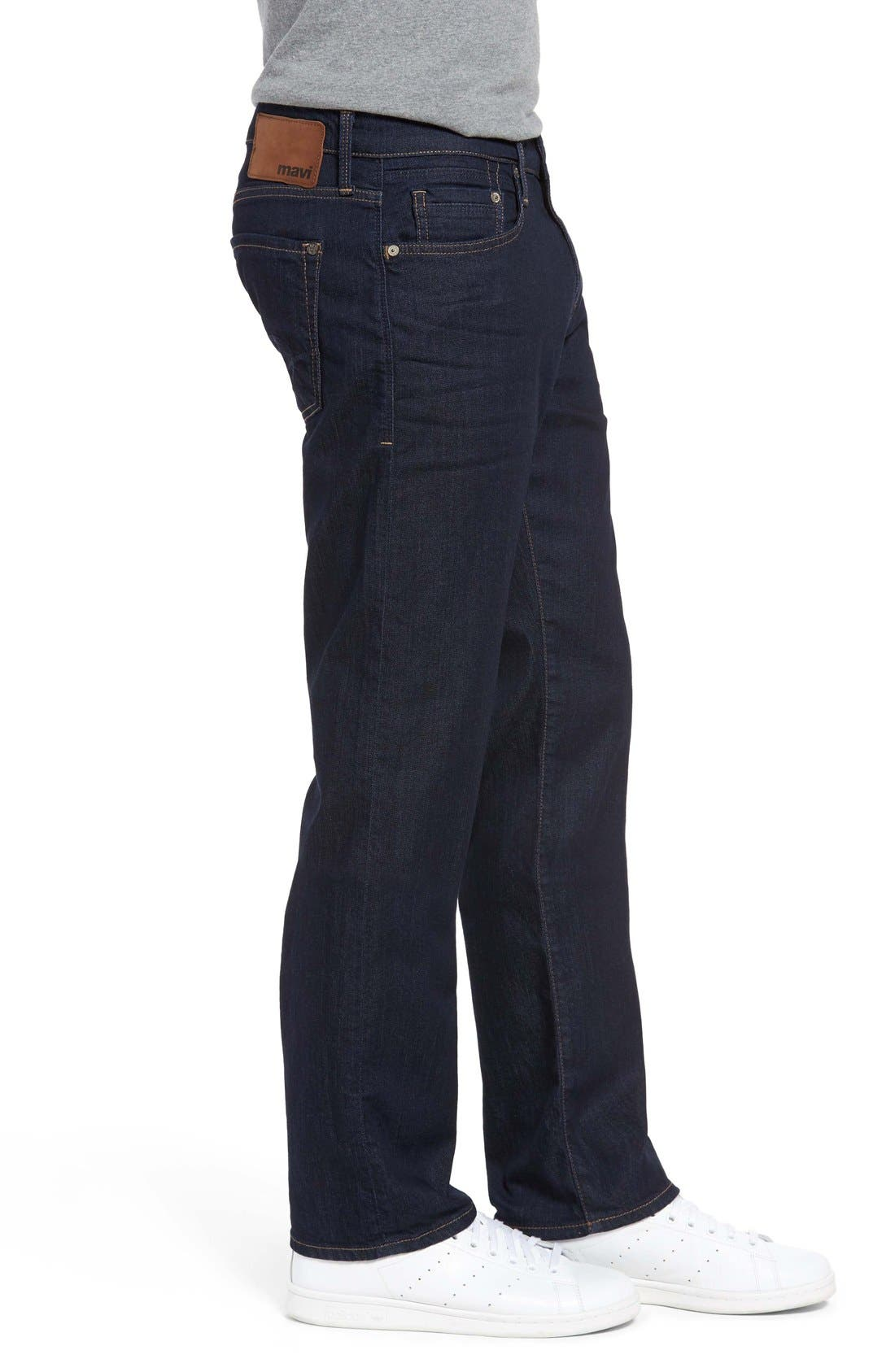 Alternate Image 3  - Mavi Jeans 'Zach' Straight Leg Jeans (Dark Blue)