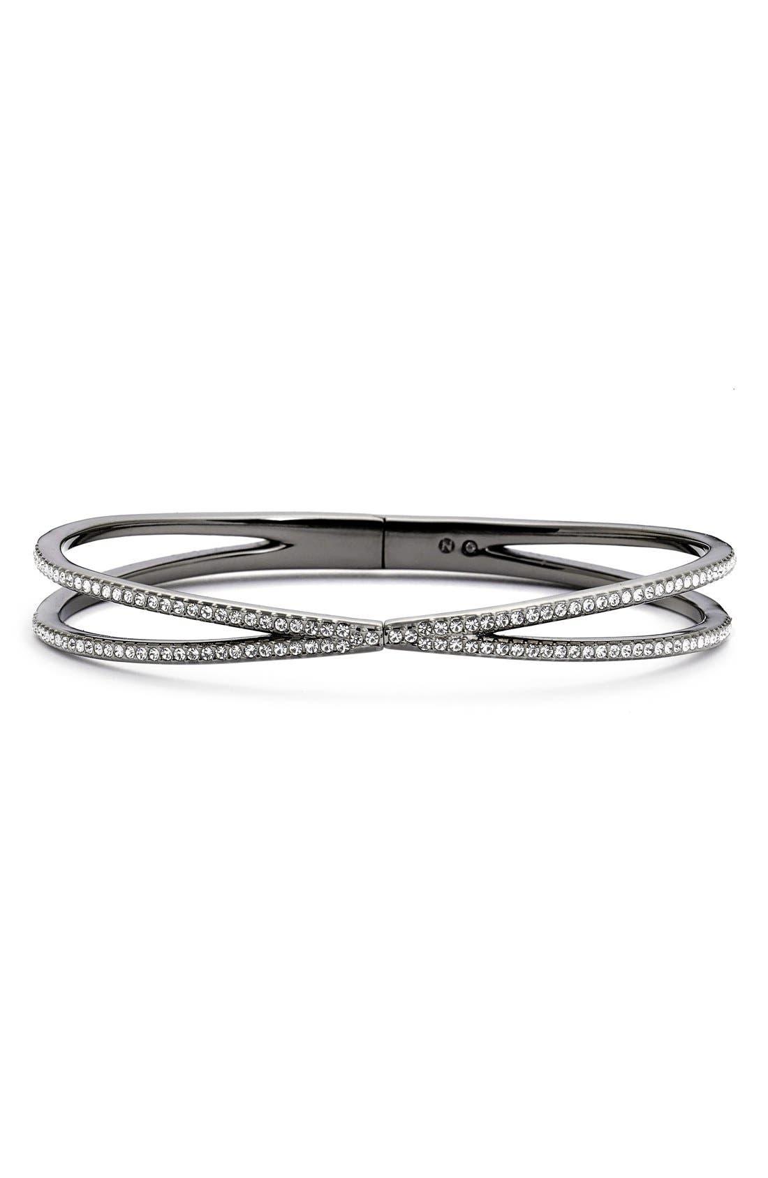 Nadri Pavé Hinged Crossover Bracelet (Nordstrom Exclusive)