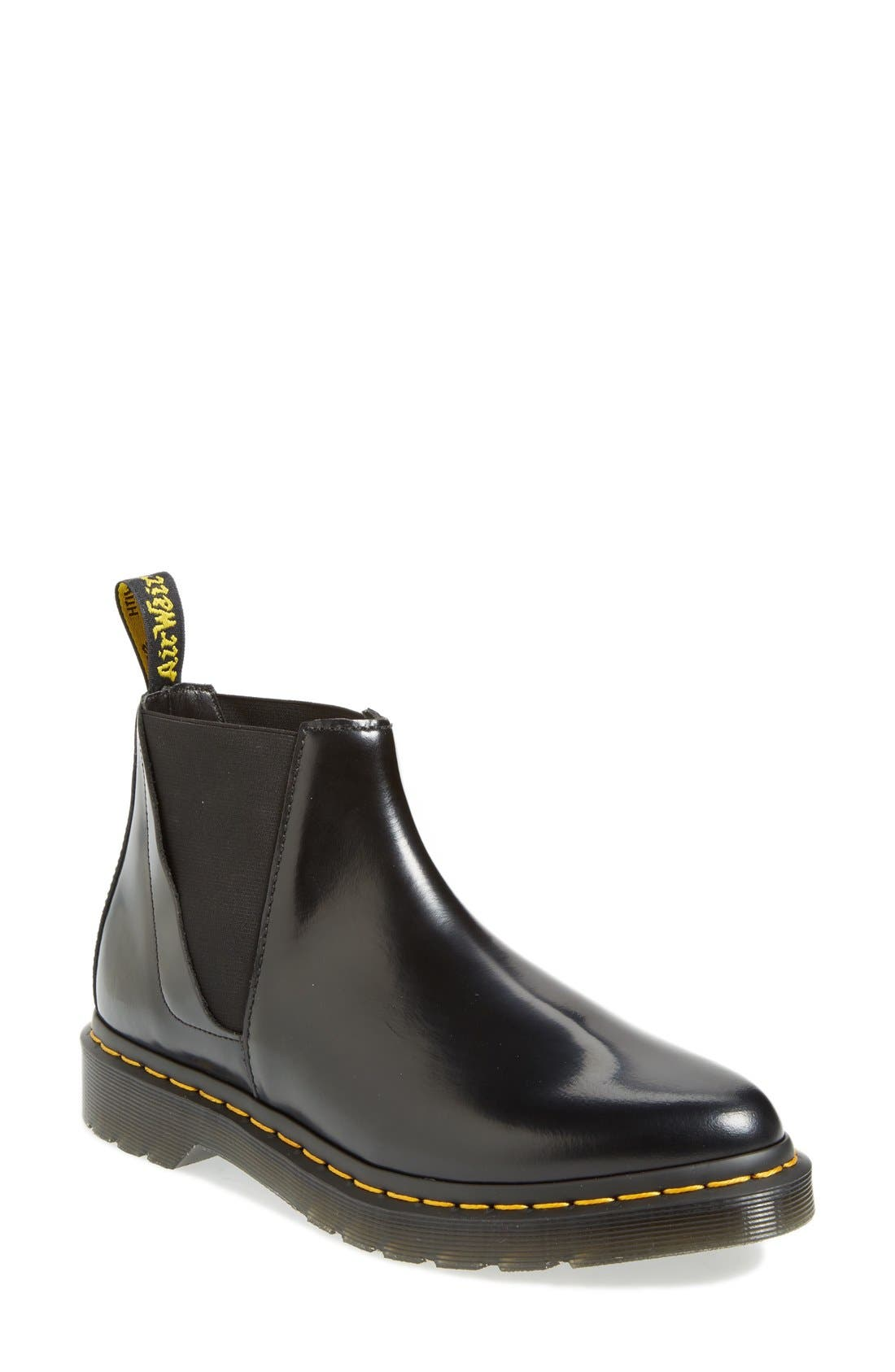'Bianca' Chelsea Boot,                         Main,                         color, Black Smooth