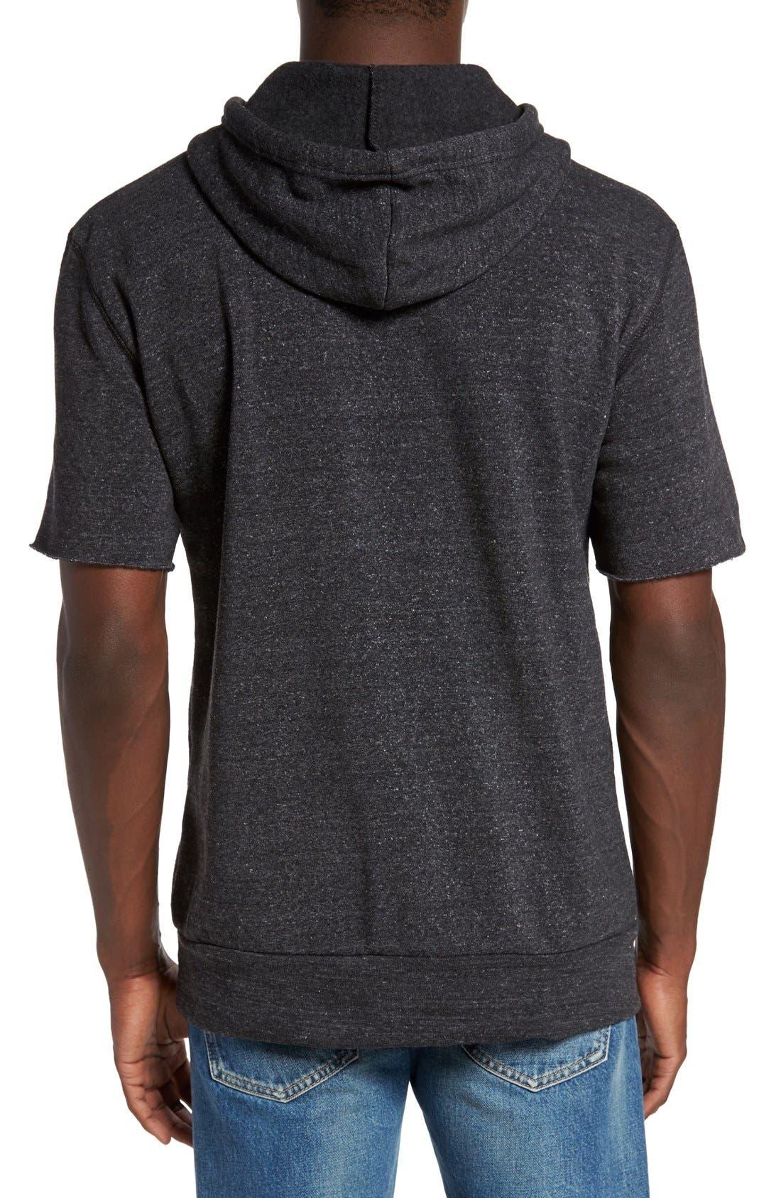 Short Sleeve Hoodie,                             Alternate thumbnail 2, color,                             Eco Black