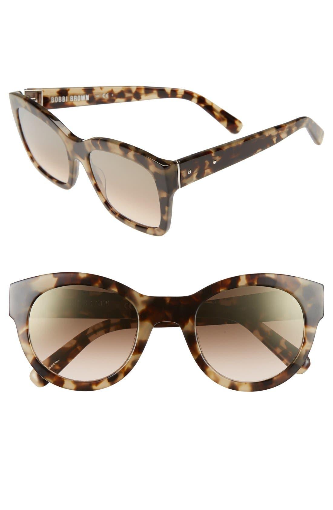 'Ava' 54mm Sunglasses,                             Main thumbnail 1, color,                             Khaki