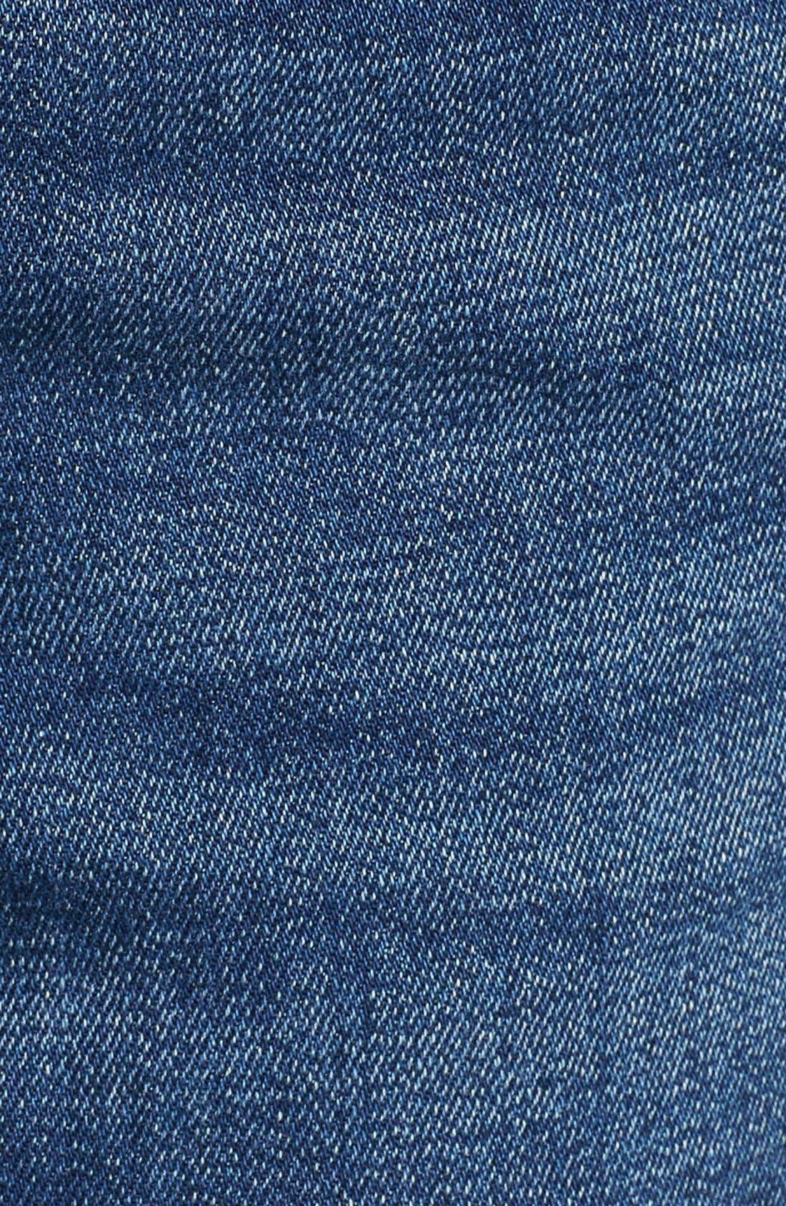 'Highly Vibed' Cutoff Denim Shorts,                             Alternate thumbnail 5, color,                             Classic Indigo