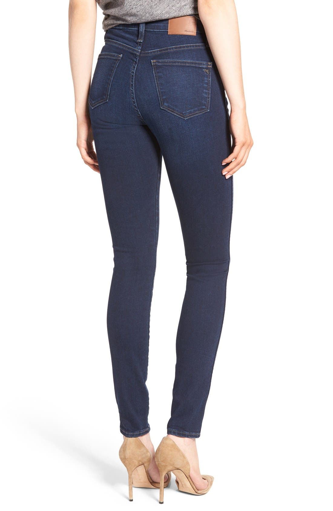 Alternate Image 2  - Madewell 10-Inch High-Rise Skinny Jeans (Hayes Wash)