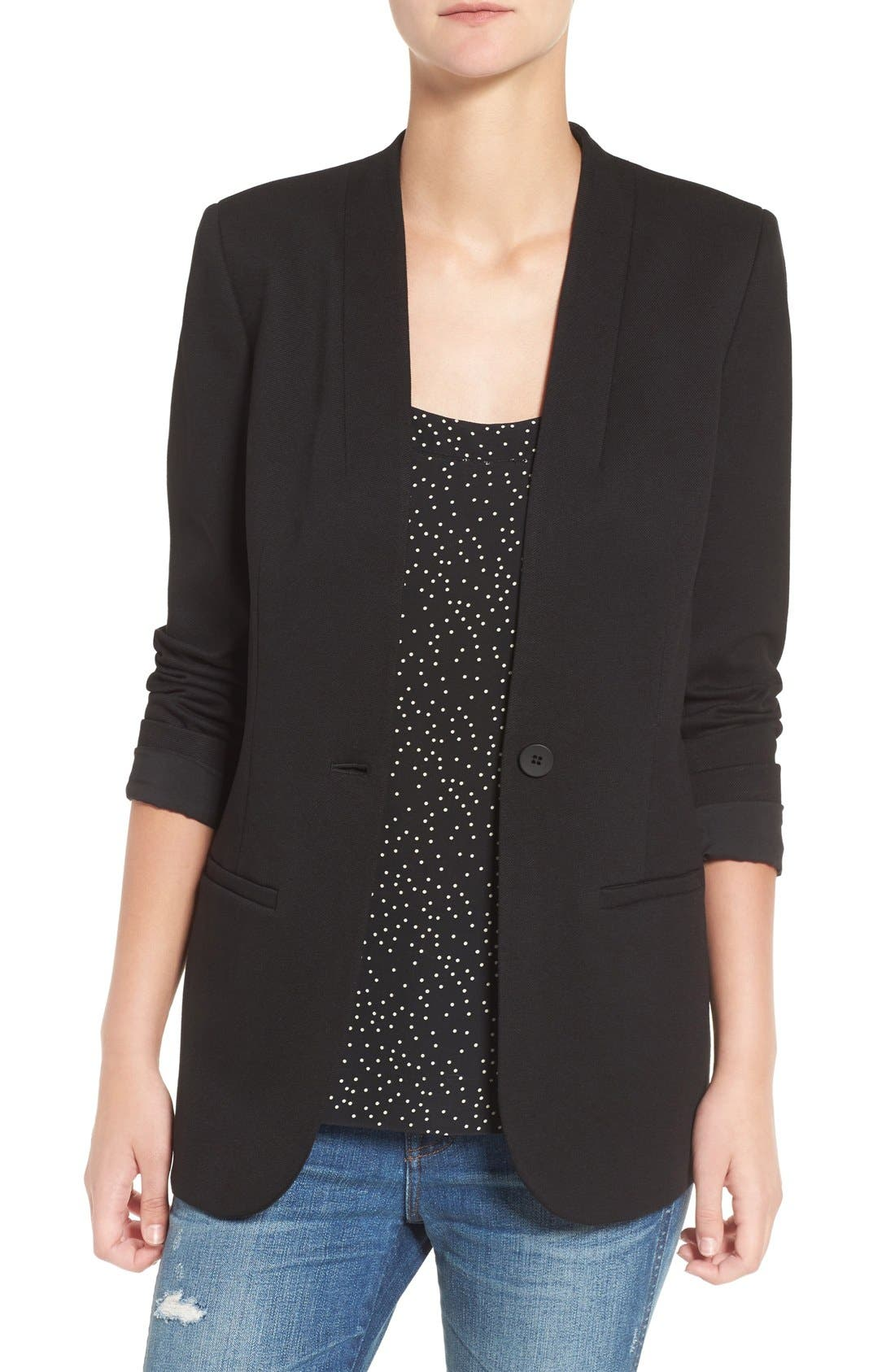 Tribune Blazer,                         Main,                         color, True Black