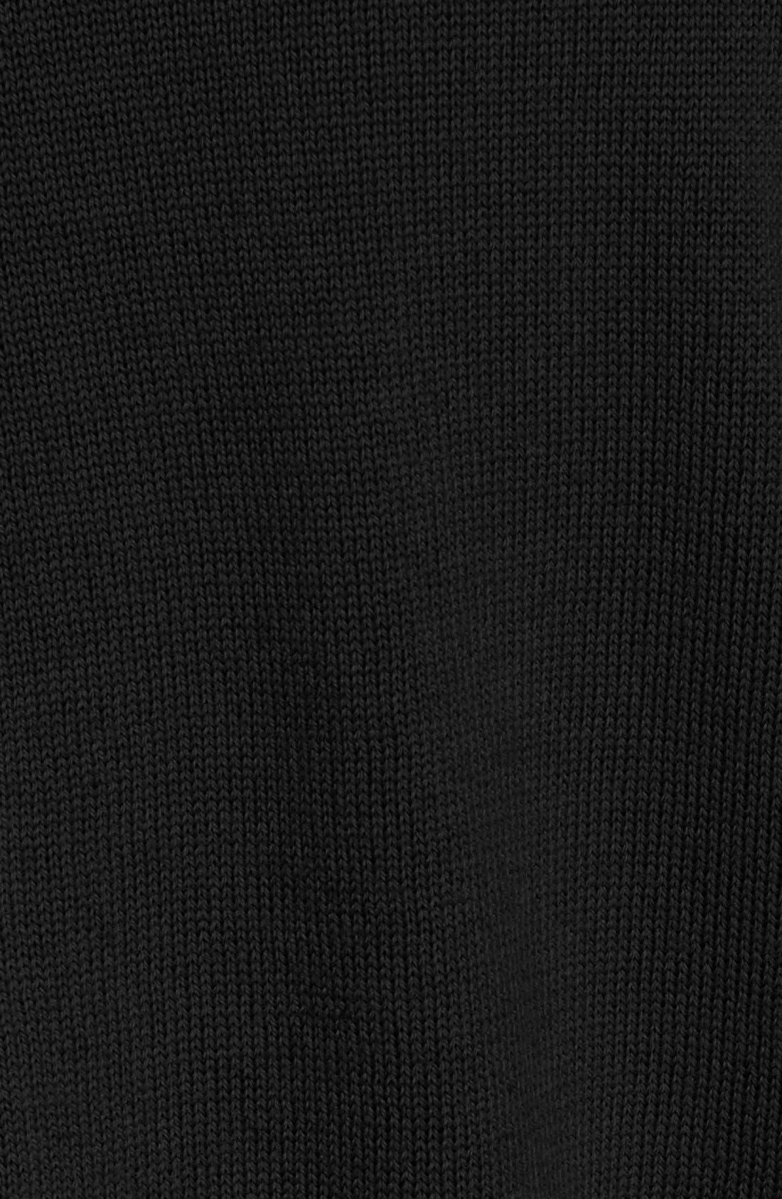 Mixed Media Cardigan,                             Alternate thumbnail 3, color,                             Black