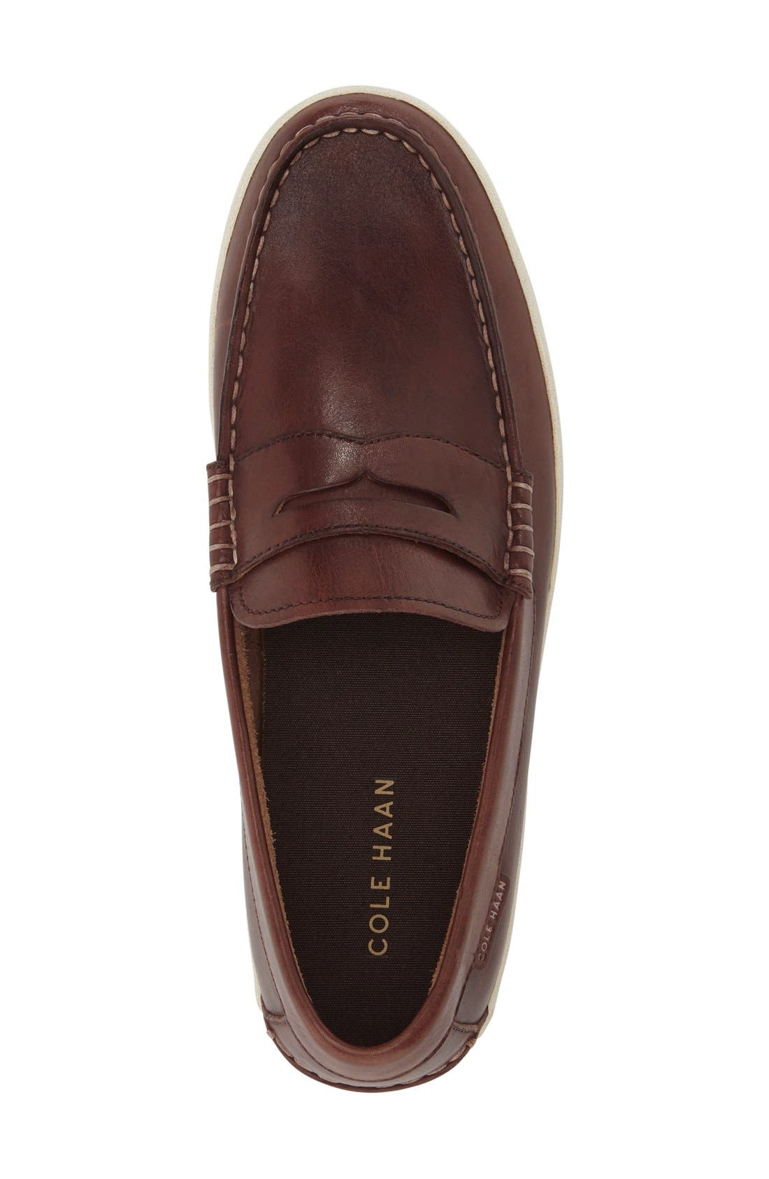 'Pinch Roadtrip' Penny Loafer,                             Alternate thumbnail 3, color,                             Woodbury Leather