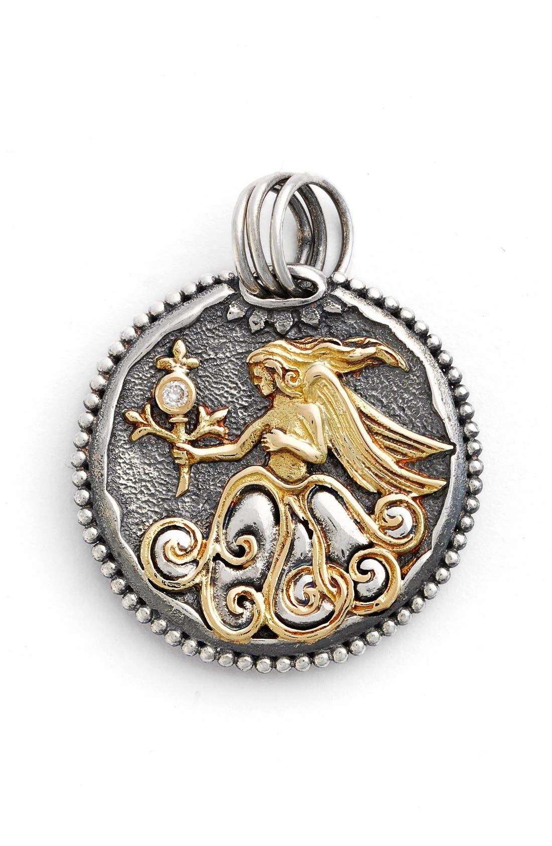 is silver god one lion cross sterling carved konstantino pendant image
