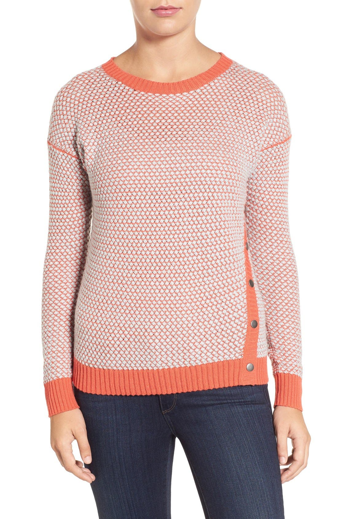 Caslon® Side Snap Sweater (Regular & Petite)