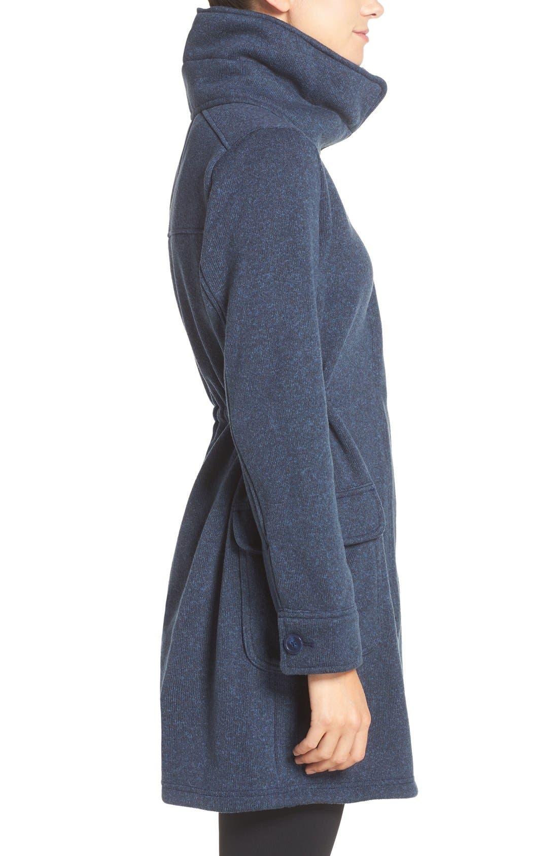 'Better Sweater<sup>®</sup>' Fleece Coat,                             Alternate thumbnail 3, color,                             Classic Navy