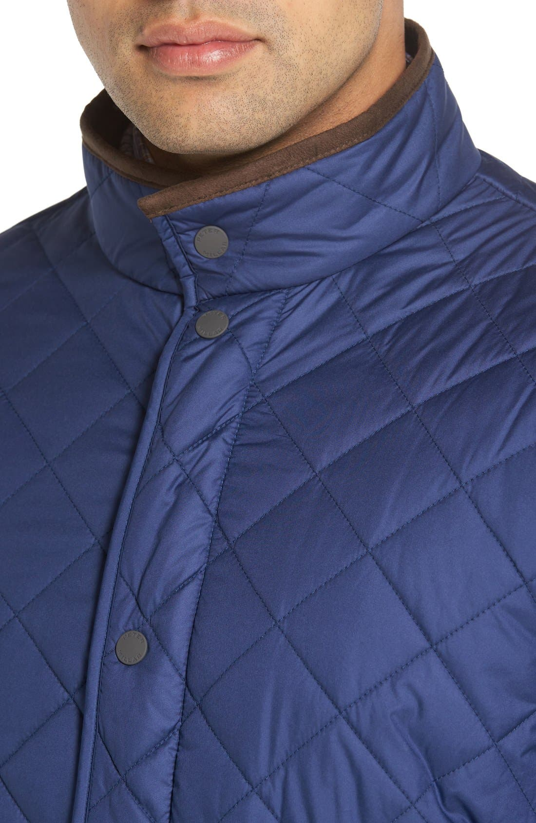Alternate Image 4  - Peter Millar Norfolk Water Resistant Quilted Jacket