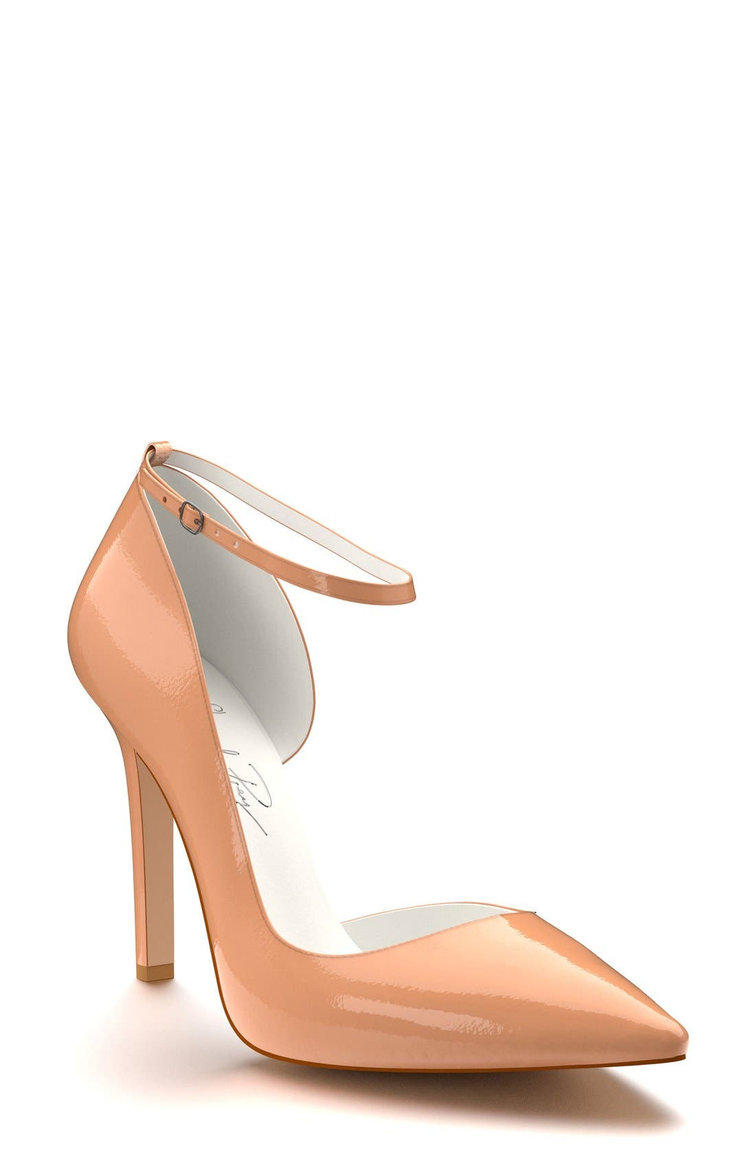 Alternate Image 1 Selected - Shoes of Prey Ankle Strap d'Orsay Pump (Women)