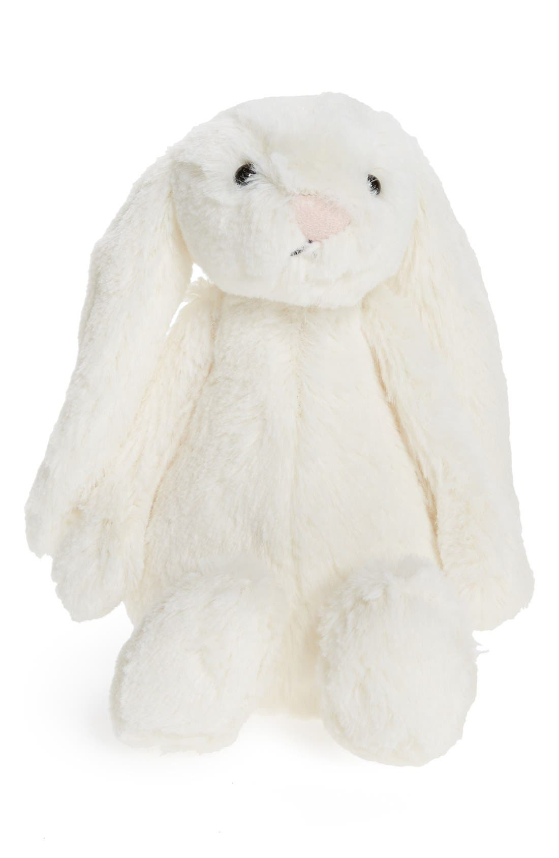 'Small Bashful Bunny' Stuffed Animal,                             Main thumbnail 1, color,                             Cream