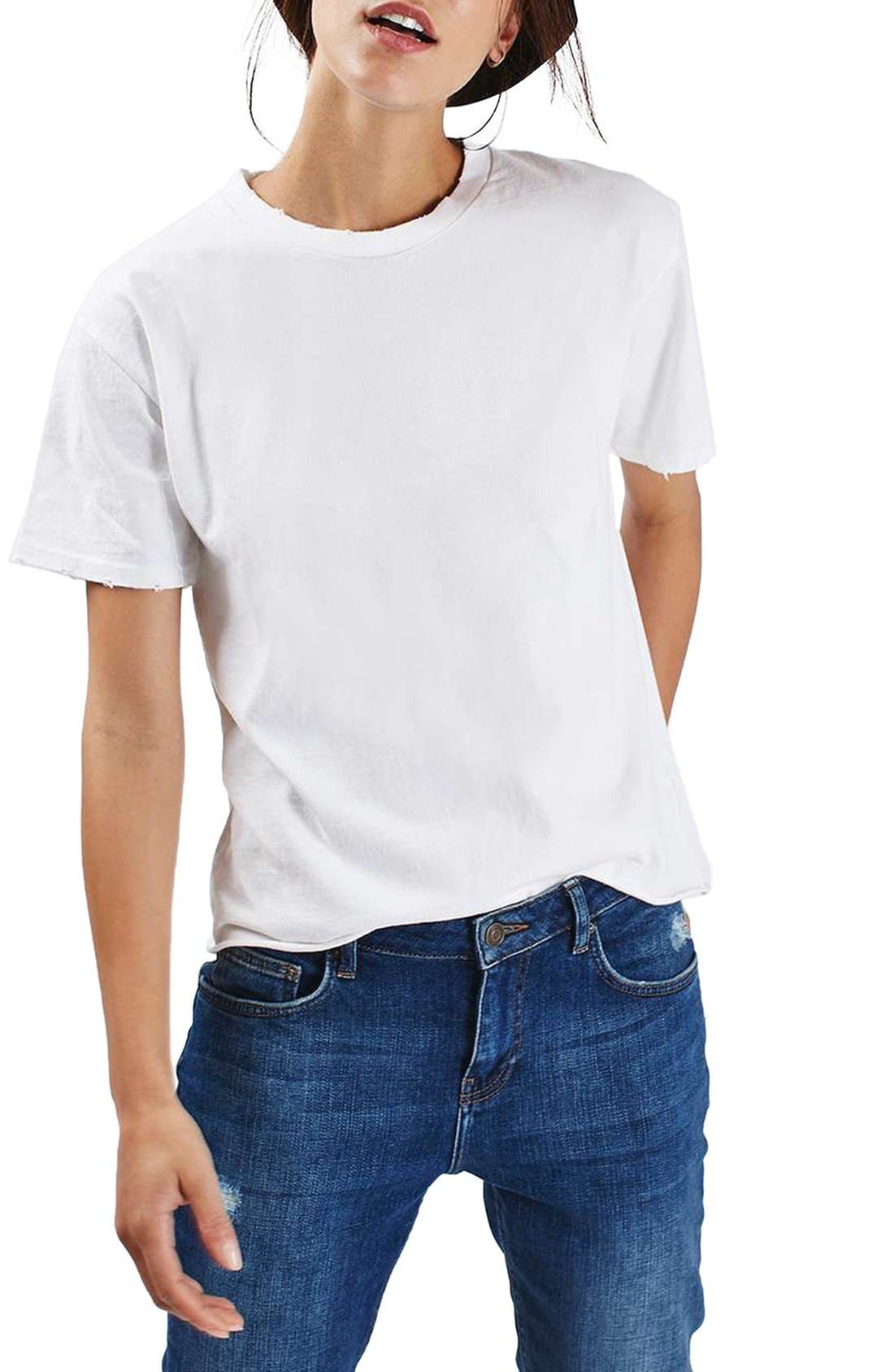 Topshop Distressed Edge Tee