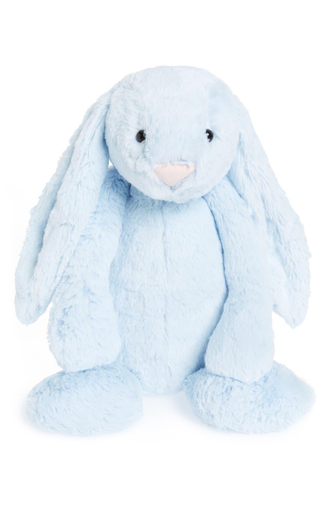 'Bashful Blue Bunny' Stuffed Animal,                         Main,                         color, Blue