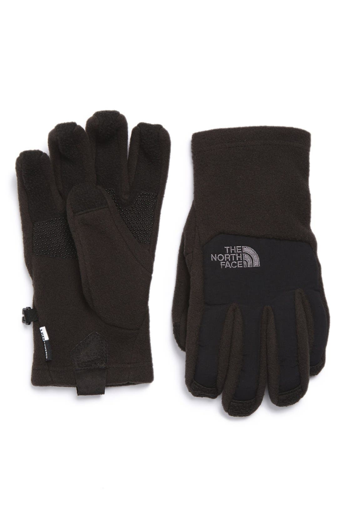 Denali E-Tip Fleece Tech Gloves,                         Main,                         color, Tnf Black