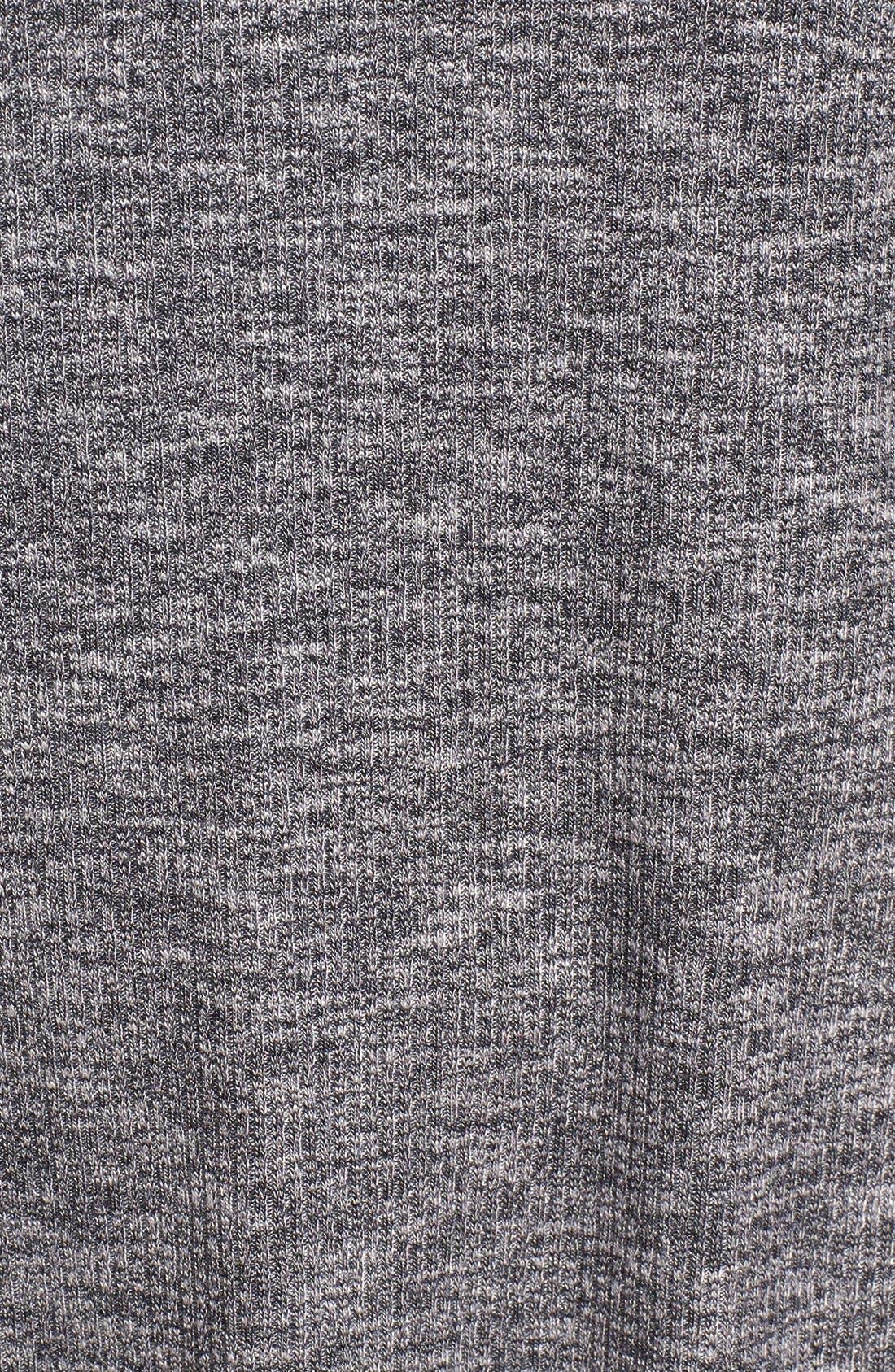 Mock Neck Marled Knit Dress,                             Alternate thumbnail 5, color,                             Heather Gravel