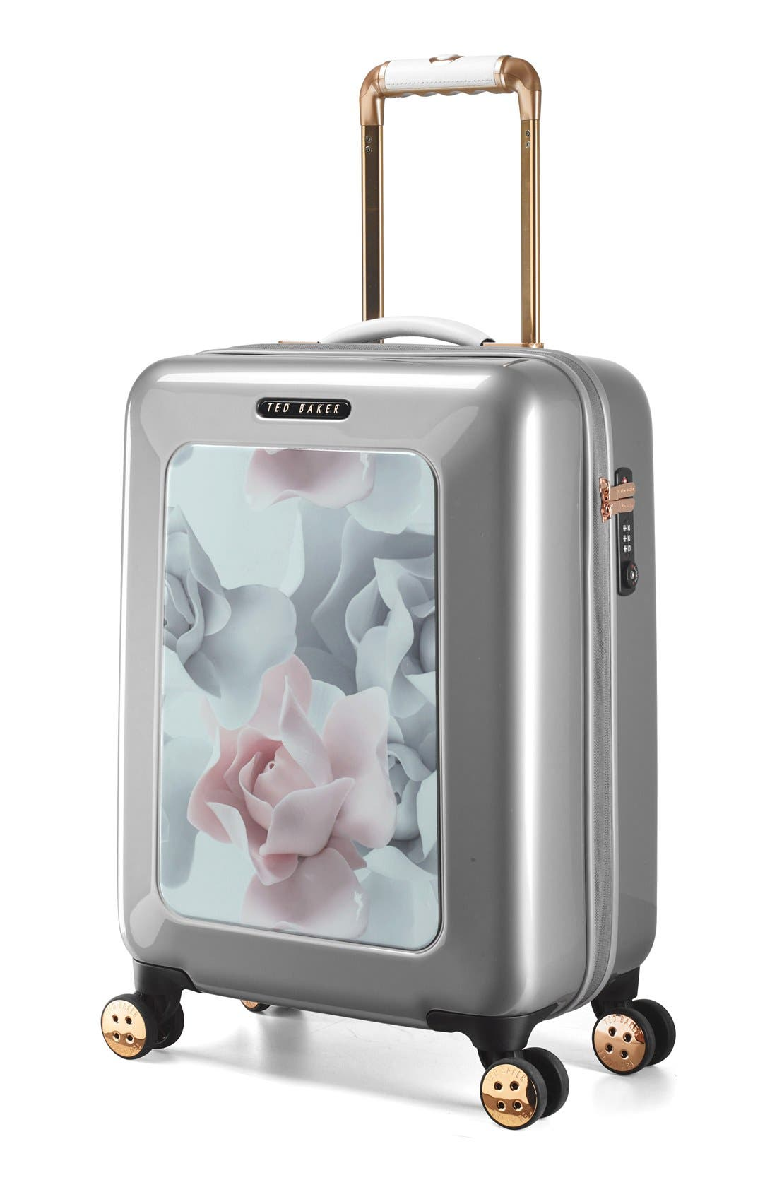 Alternate Image 2  - Ted Baker London 'Small Porcelain Rose' Four Wheel Suitcase (22 Inch)