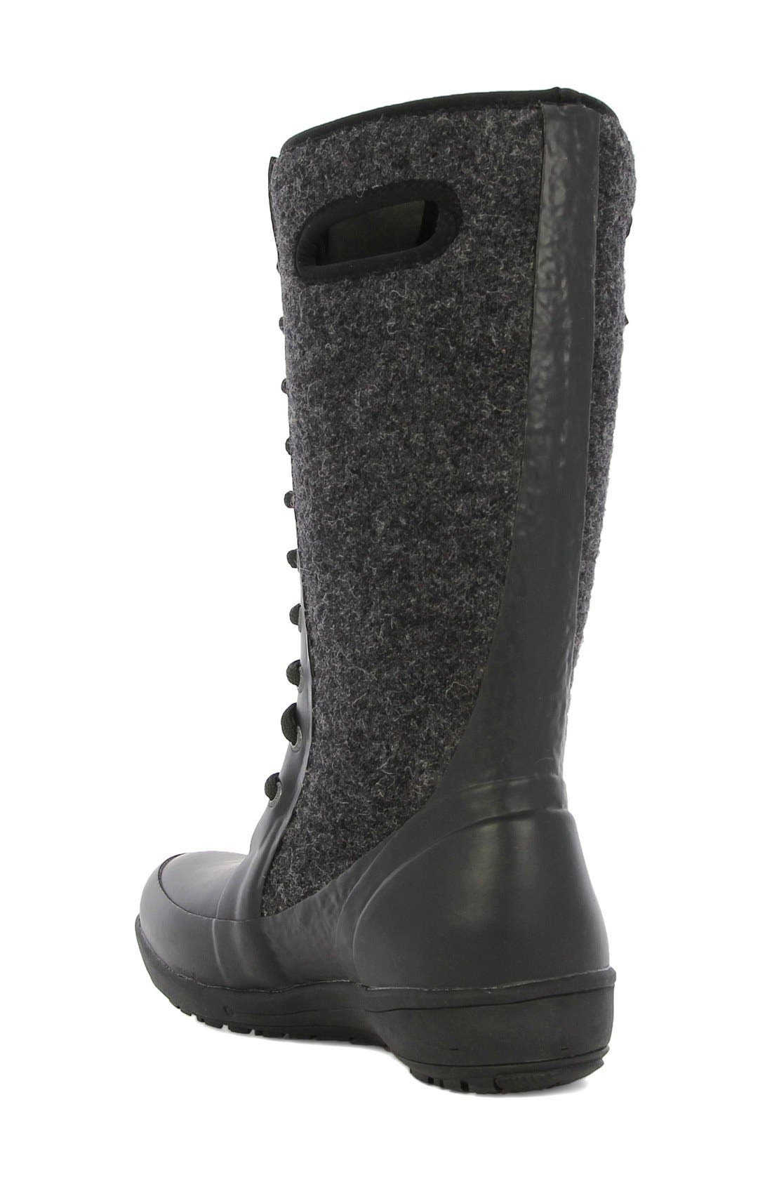 'Cami' Knee High Waterproof Boot,                             Alternate thumbnail 2, color,                             Black Multi Wool