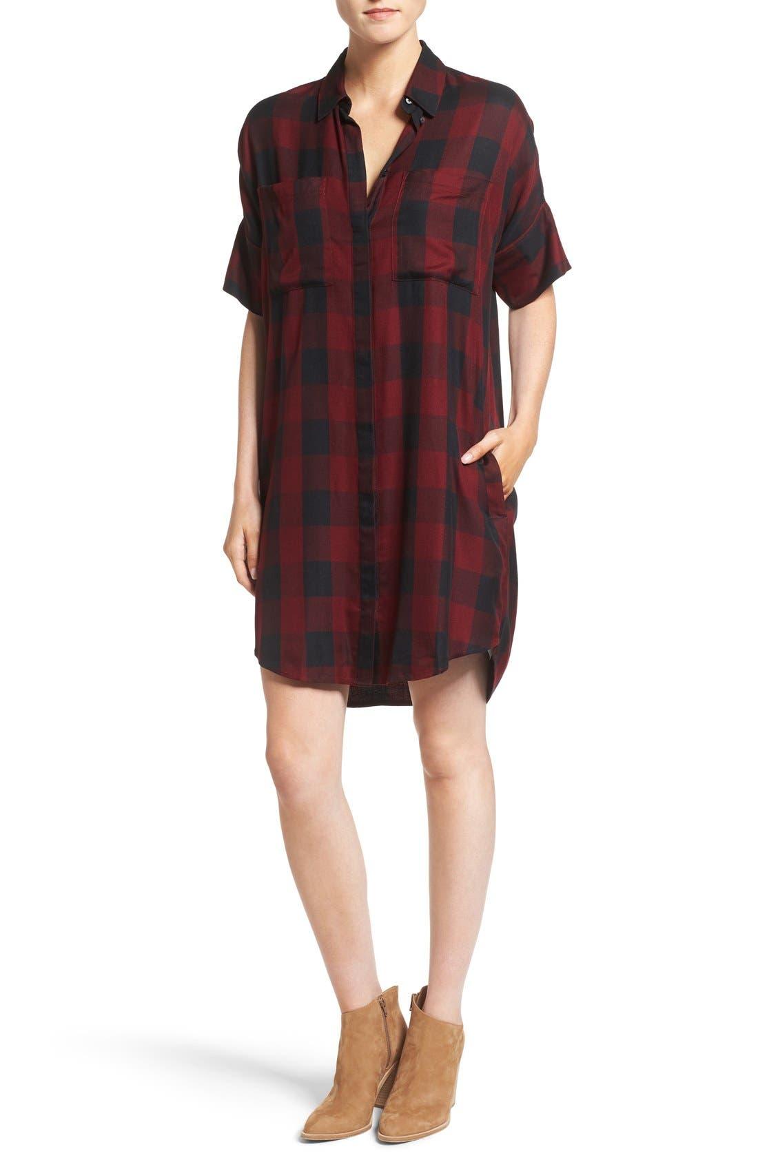 Main Image - Madewell Courier Plaid Shirtdress
