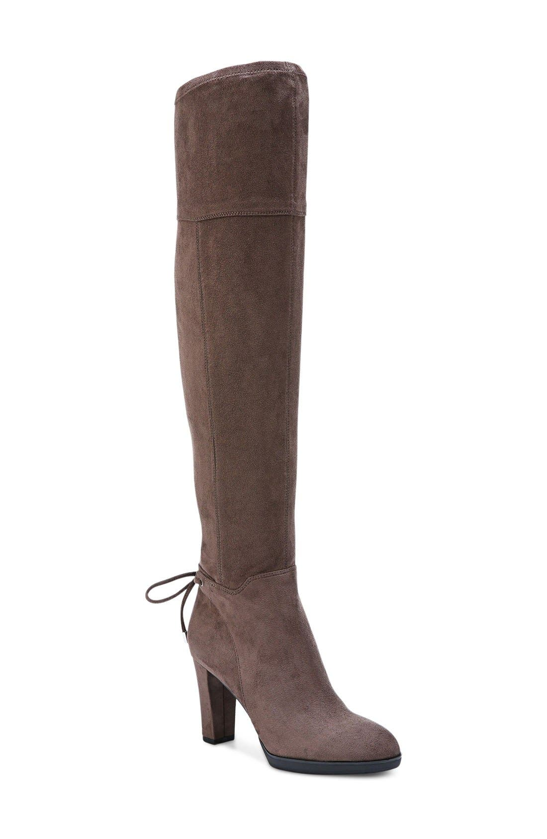 Ivanea Over the Knee Boot,                             Main thumbnail 1, color,                             Taupe Suede