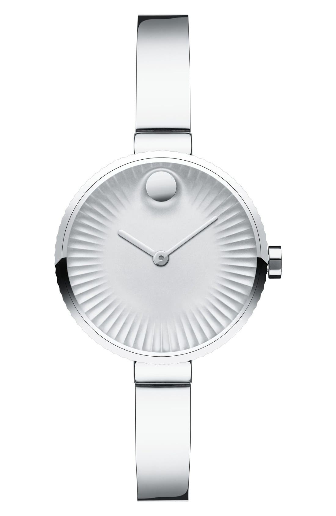 'Edge' Bracelet Watch, 28mm,                         Main,                         color, Silver