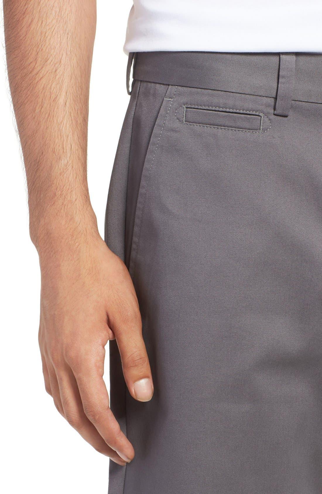 Alternate Image 4  - Nordstrom Men's Shop Smartcare™ Flat Front Shorts