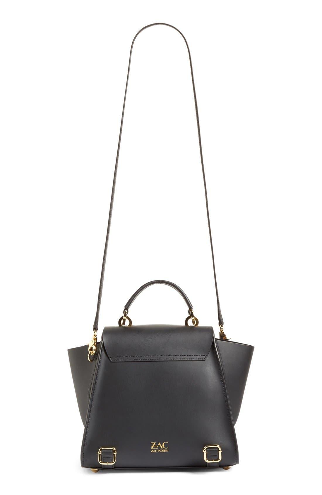 'Eartha Iconic' Leather Backpack,                             Alternate thumbnail 4, color,                             Black