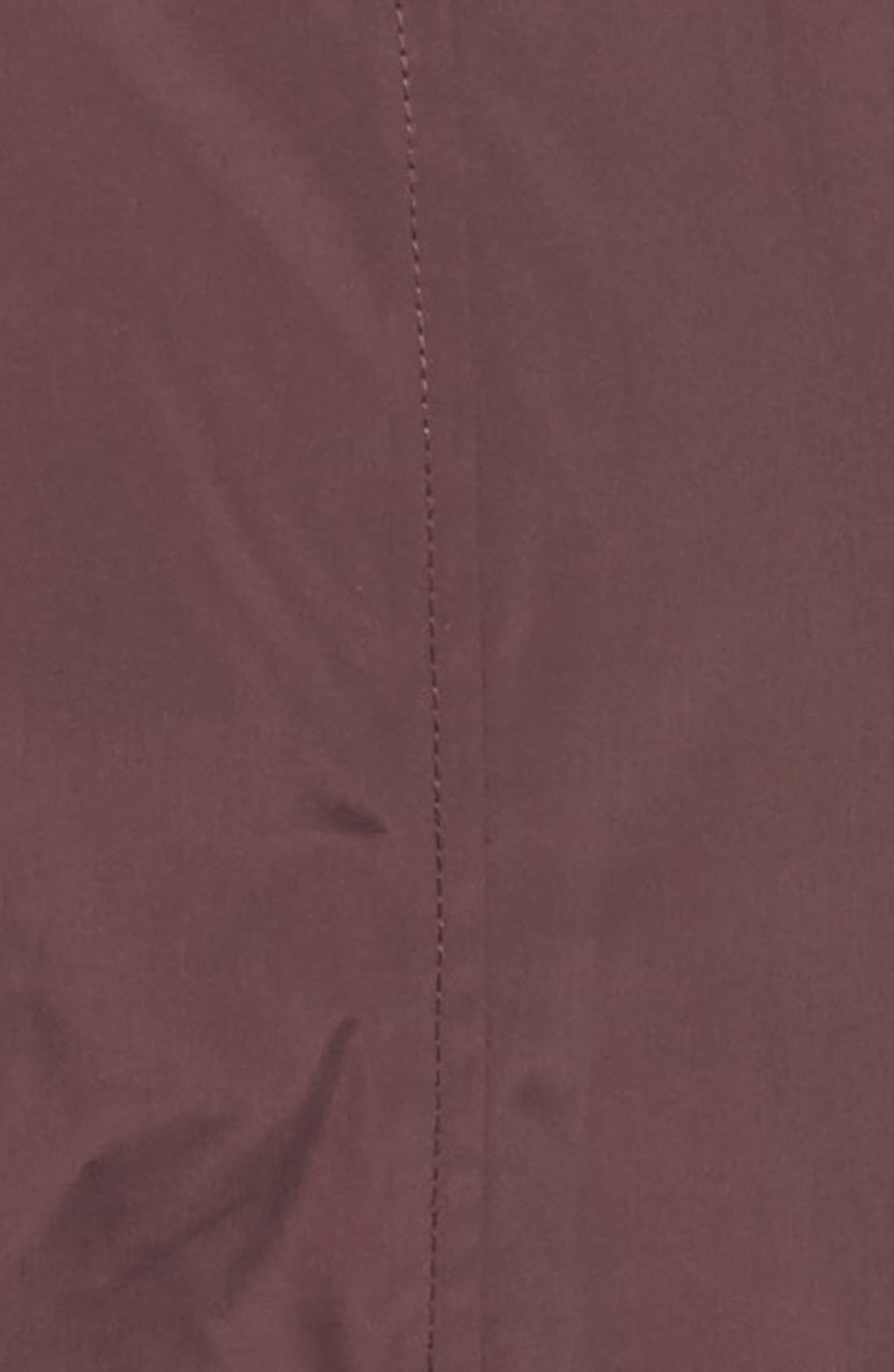 Cole Haan Water Resistant Rain Jacket,                             Alternate thumbnail 6, color,                             Eggplant
