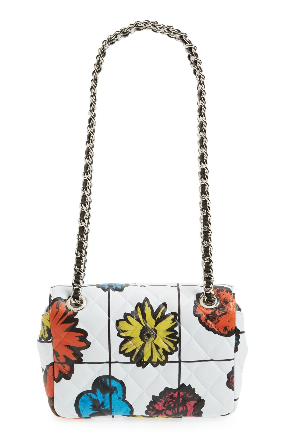 Alternate Image 3  - Moschino 'Small Letters' Floral Quilted Shoulder Bag