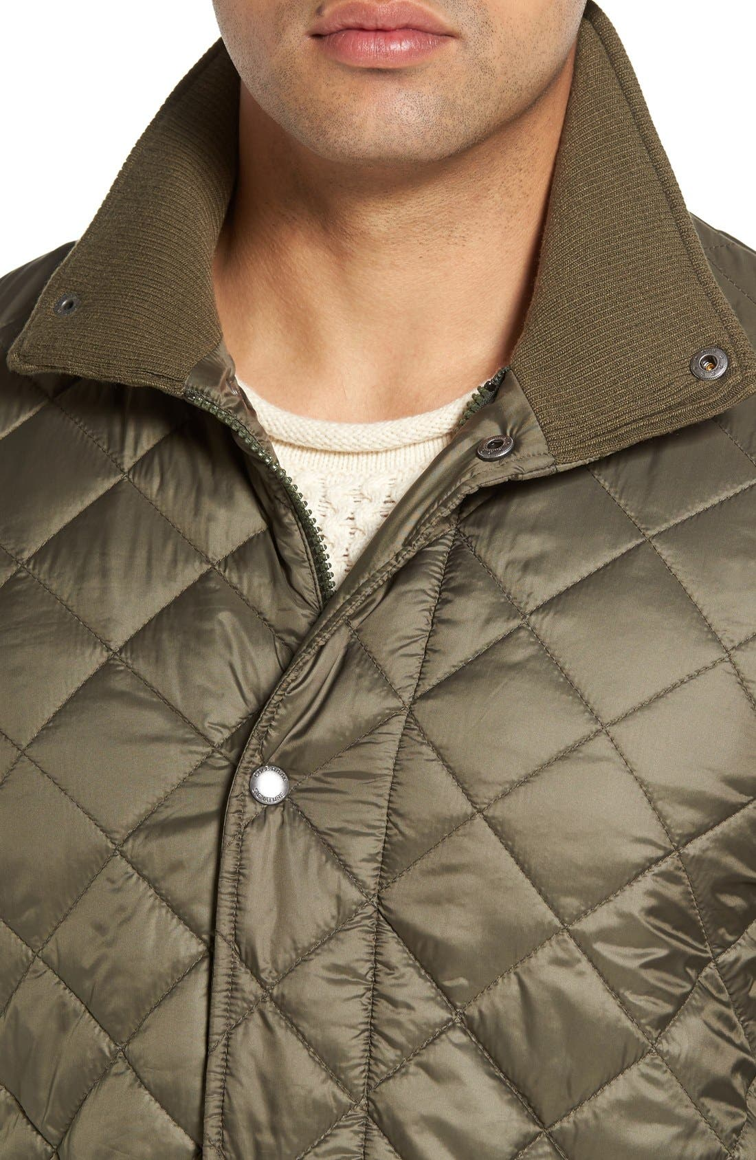 Diamond Quilted Jacket,                             Alternate thumbnail 10, color,                             Olive