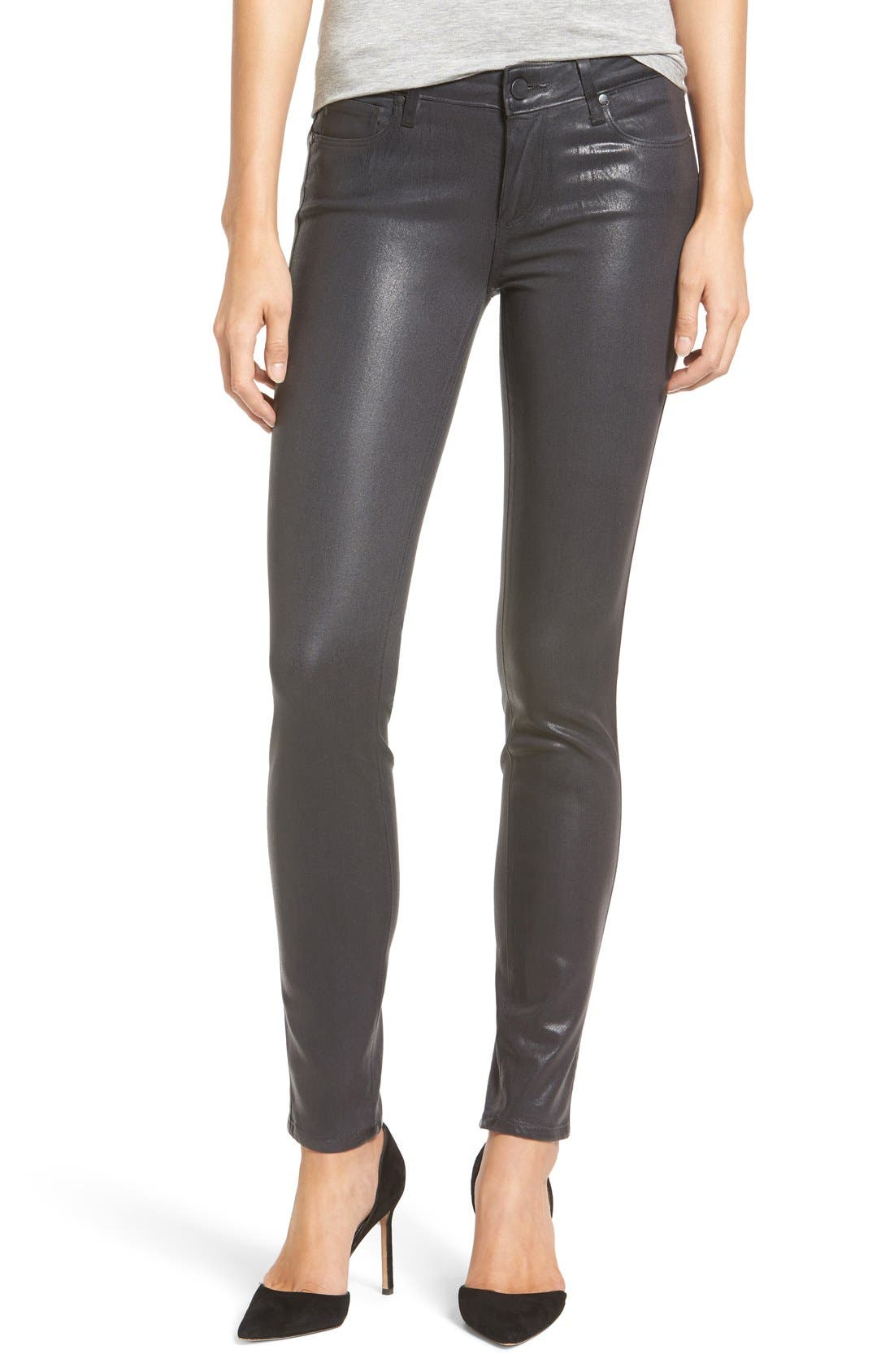 PAIGE Transcend - Verdugo Coated Ultra Skinny Jeans