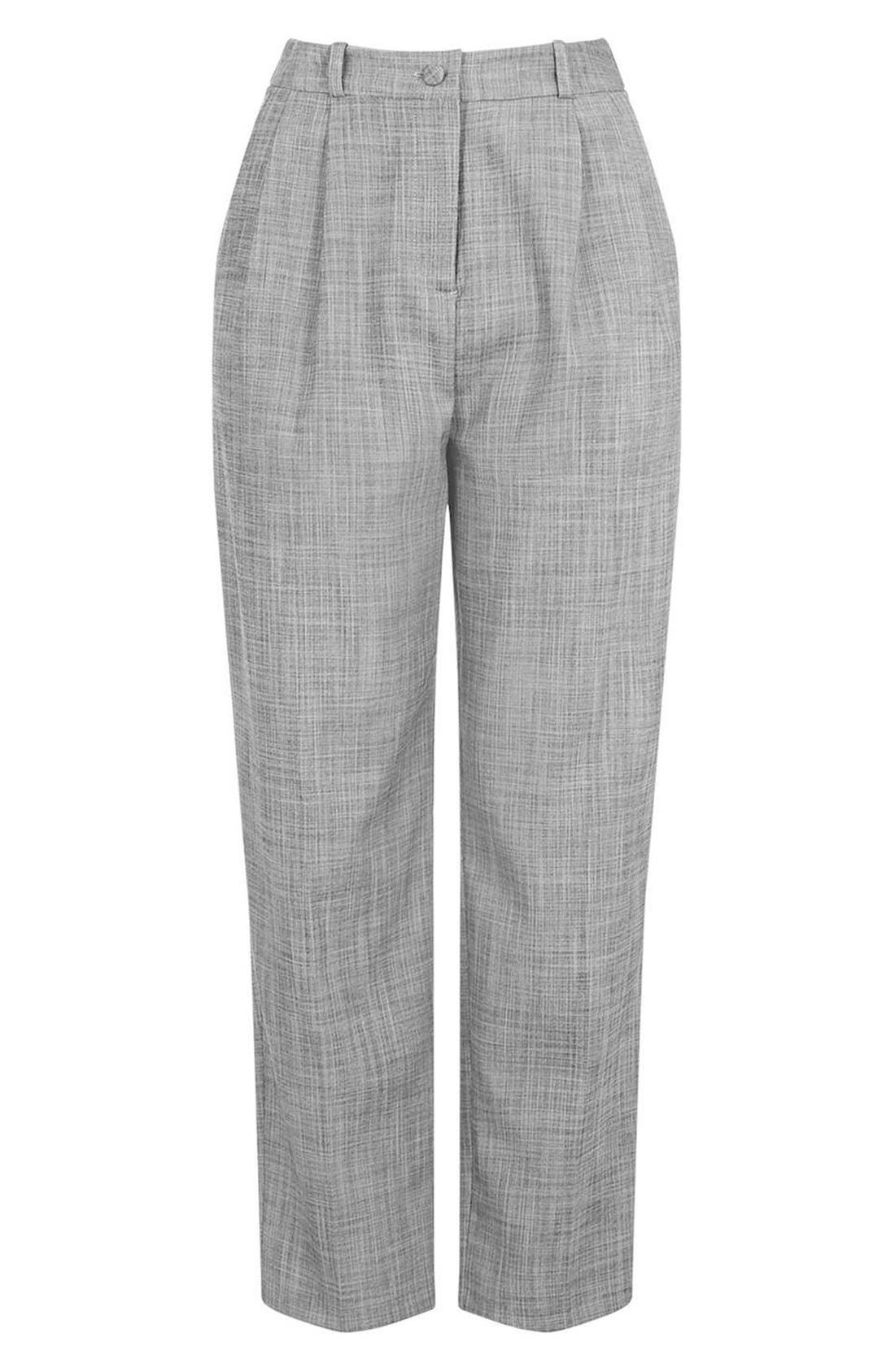 Alternate Image 4  - Topshop Crosshatch Crop Trousers