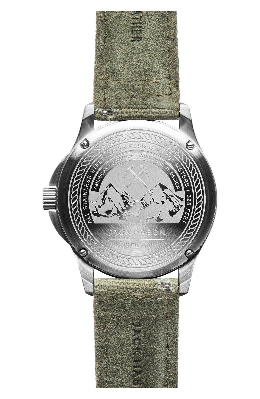 Canvas Strap Watch, 42mm,                             Alternate thumbnail 2, color,                             Khaki/ Green