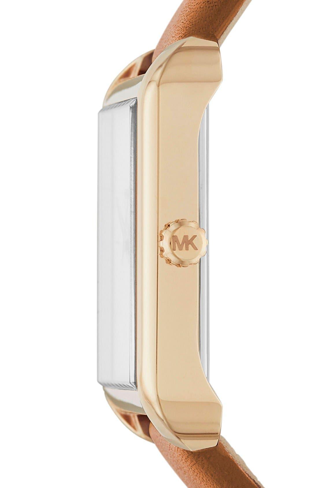 Alternate Image 2  - Michael Kors 'Lake' Leather Strap Watch, 32mm x 39mm