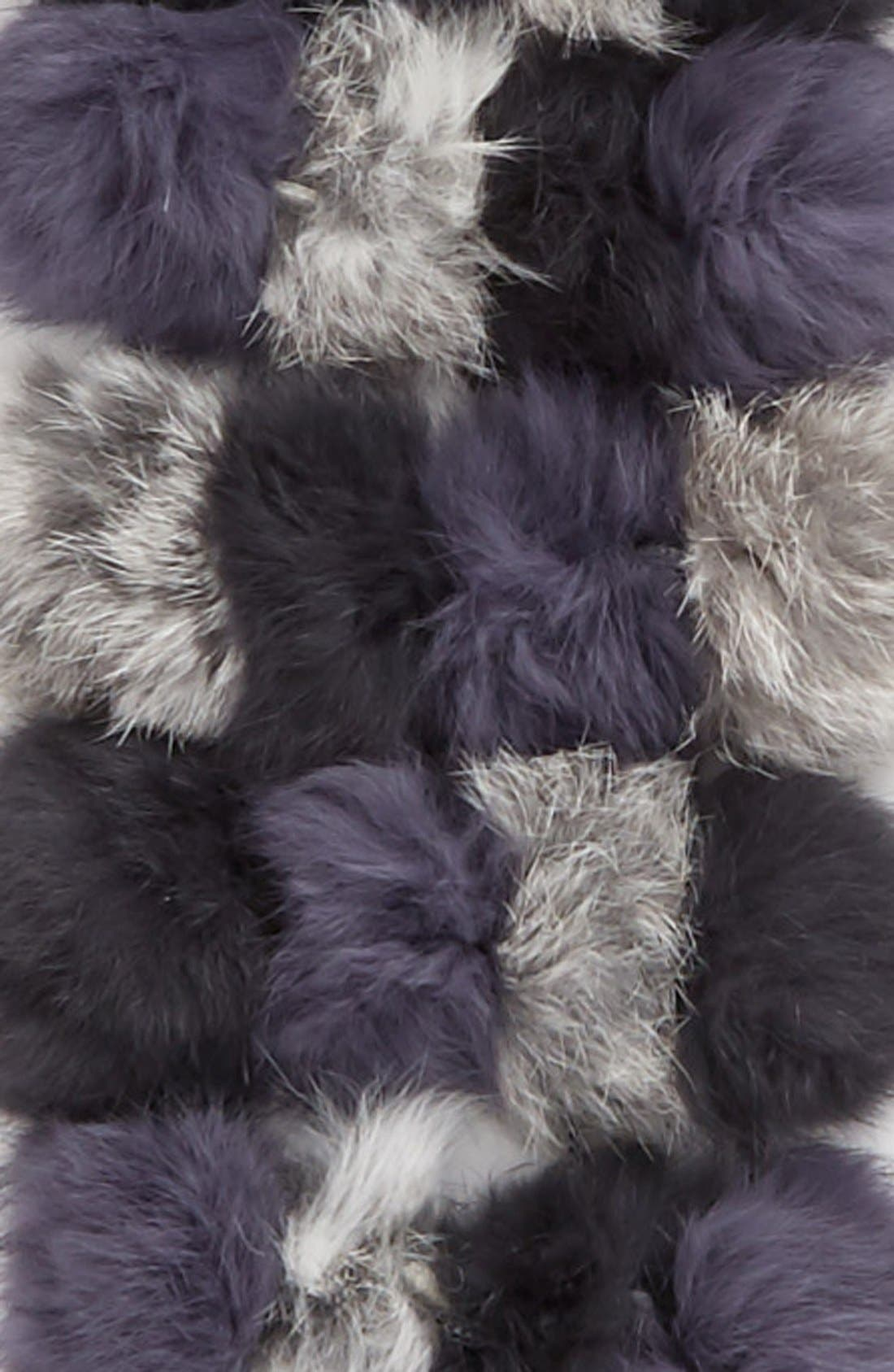 Alternate Image 3  - La Fiorentina Genuine Rabbit Fur Scarf