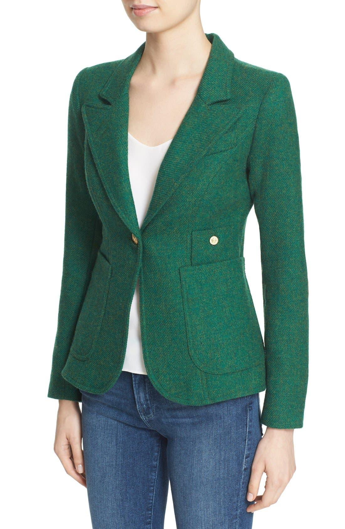 Alternate Image 4  - Smythe 'Duchess' Suede Trim Wool Blend Blazer