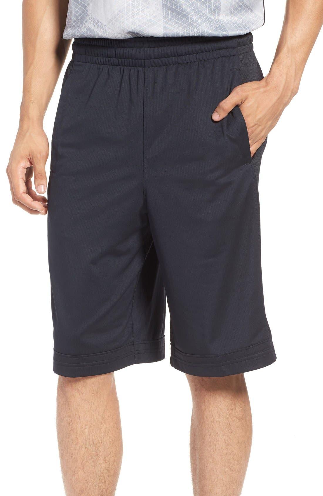 'Isolation' Athletic Shorts,                         Main,                         color, Black
