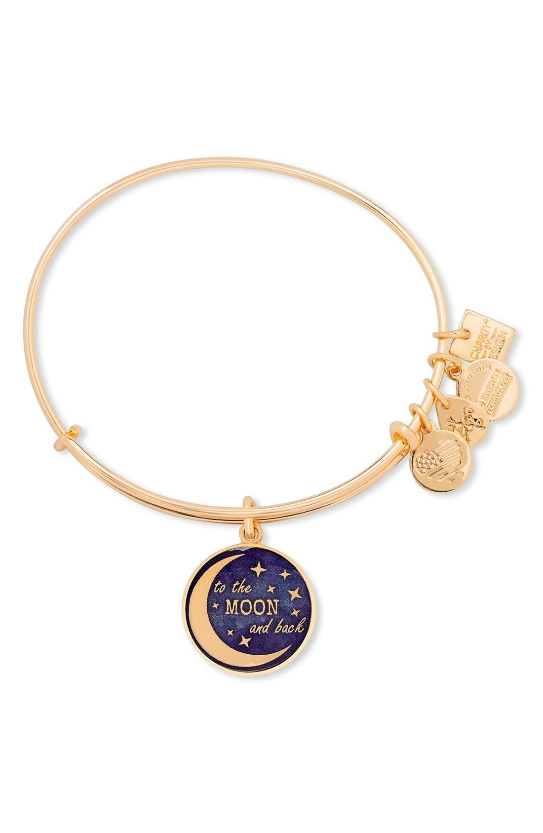 Alternate Image 1 Selected - Alex and Ani Stellar Love 'To the Moon and Back' Adjustable Wire Bangle