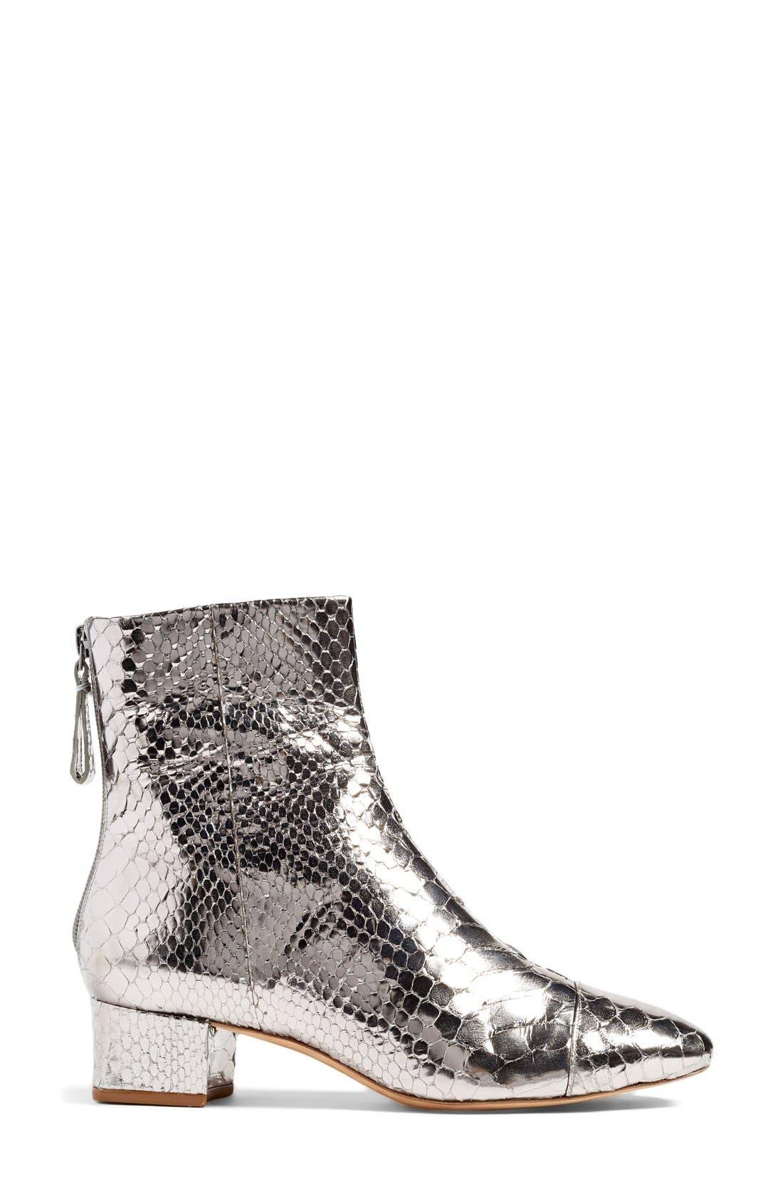 Alternate Image 4  - Alexandre Birman 'Jessie' Metallic Genuine Python Bootie (Women)