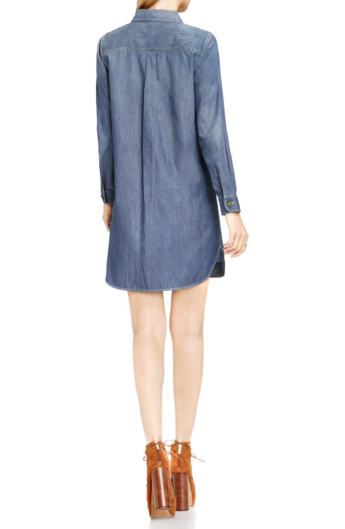 Alternate Image 4  - Two by Vince Camuto Denim Shirtdress