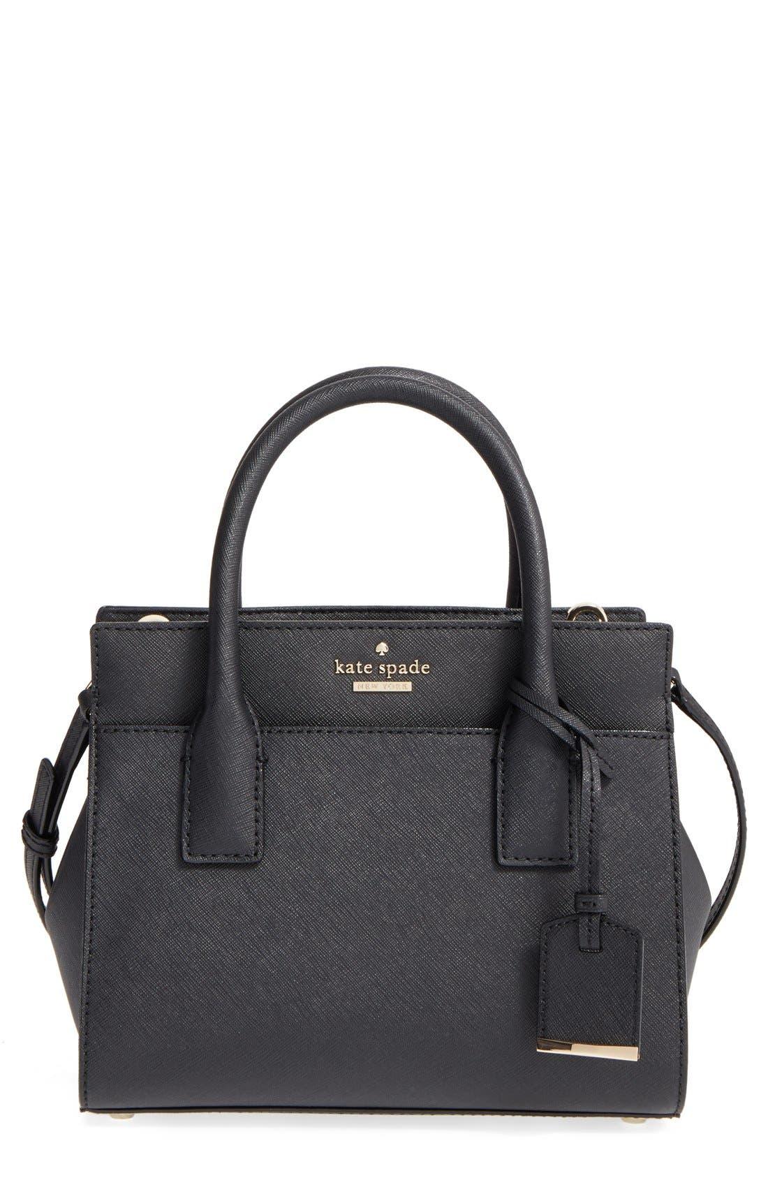 Main Image - kate spade new york 'cameron street - mini candace' leather satchel